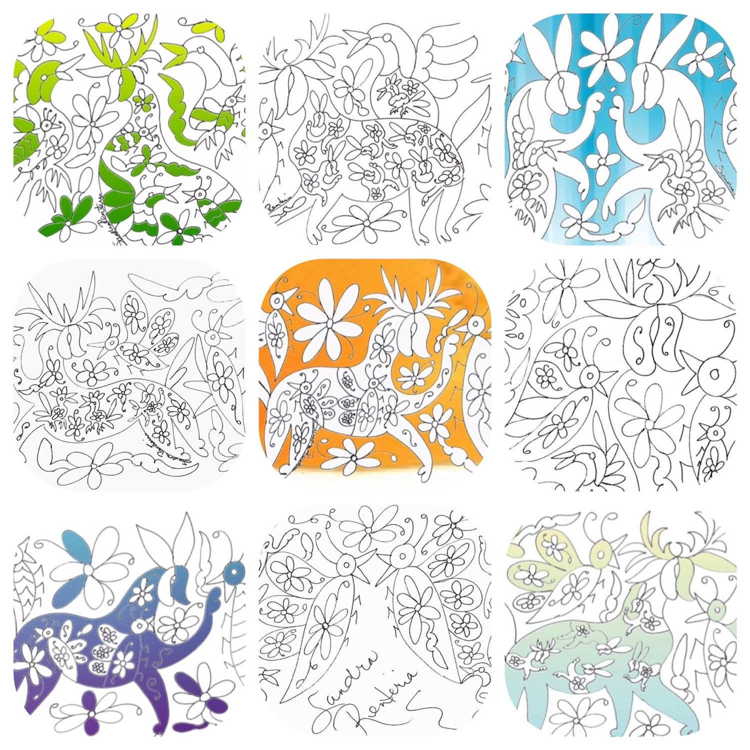 Save The Bees Otomi Coloring Book PDF With Proceeds Going To
