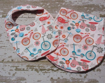 Ready to Ship-The Couture Mama Gift Set-  burp and bib in scooters
