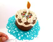 Cake Headband, Birthday Headband Adult ,Adult Party Hats,Cake Fascinator,Birthday party Hat,Birthday Party Headpiece,Birthday Party Headband