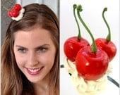 Cherry Birthday Headband Adult,Adult Party Hats,Cherry Headband,Birthday Party Hats,Cherry Headpiece ,Cherries Fascinator,Cupcake Cherry Hat