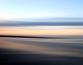 Surnise, Ocean and Sky,  Beach Decor, Abstract Seascape, Modern Art, 11X14 Mat, Ready to Frame