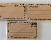 Reserved For Yukiko 3 Sets Recipe Cards- 1 Cat & Dog, 1 Pig, 1 Cow