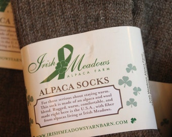 Unisex Extra Large Alpaca Socks - All Natural Perfect Gift