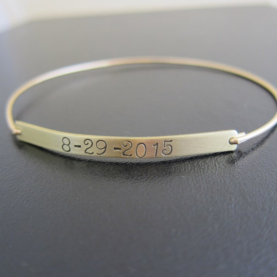 Keepsake Jewelry Wedding Date Bracelet Wedding Date Gift