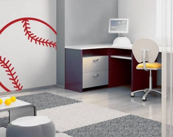 Baseball Line Sports Removable Vinyl Wall Decal