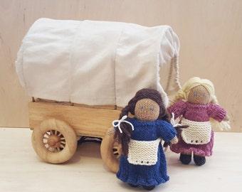 Little Doll on the Prairie Knitting Pattern, Doll House, Pocket Doll Knitting Pattern