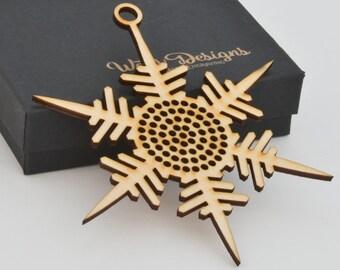Cross Stitch Snowflake Ornament - Stitchable Christmas Tree Decoration BSOS02-07