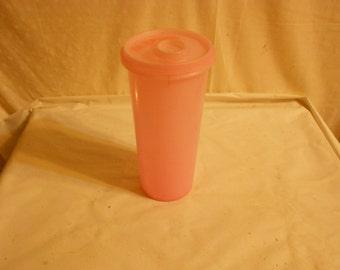 Tupperware Handolier Juice Storage Canister Pink  Retro Kitchenware
