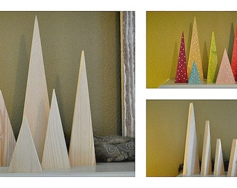 5 Piece Unfinished Wood Tree Forest