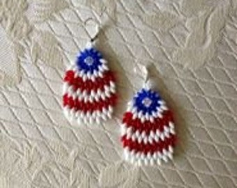 Eye Feather Beaded Earrings