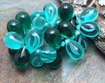 Emerald Bay Mix 9x6mm Tear Drops, emerald bay collection