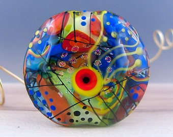 Art Glass - 1 focal bead by Michou P. Anderson