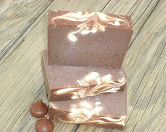 Chocolate Soap / Hot Chocolate Soap / Cocoa Bean Soap / Cold Process Handmade Soap