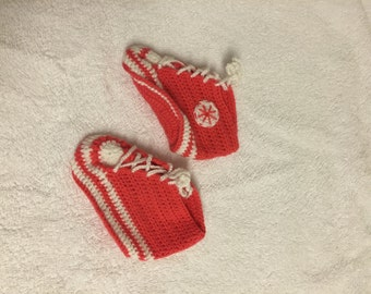 hand crochet 6 9 months baby boots booties pink light gift idea girl christmas birthday baby shower girl toddler