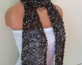 ribbon scarf handmade handknit trellis scarves brown shades multicolor gift idea for women girls birthday christmas teacher's day