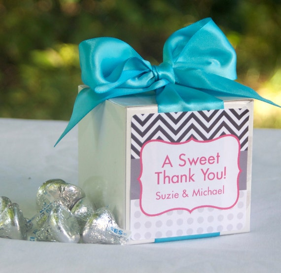 Items Similar To 12 Personalized Wedding Favor Boxes Kit