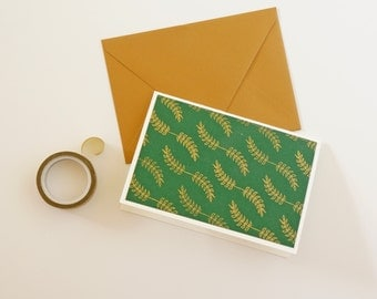 Personalized Holiday Card, Personalized Christmas Card, Green, Gold, Gold Christmas Card, Gold Holiday Card, Card Set, Custom Cards,