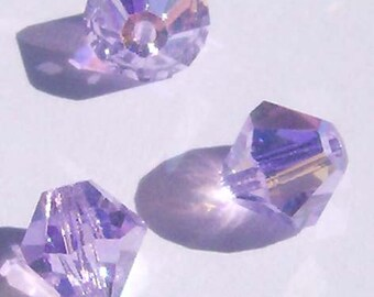 Swarovski Elements Crystal Beads BICONE  crystal beads Violet AB (light purple) -- Available in 4mm and 6mm