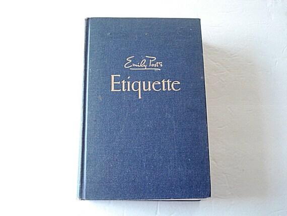 Ask Emily Post Etiquette: Etiquette Book Emily Post Etiquette Vintage Book 1930 Manners