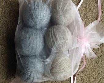 Wood Dryer Balls - 100% Wool