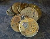 Industrial Pocket Watch Parts Brass Large Round Pocketwatch Plates Pieces