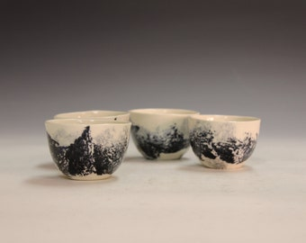 Fine gifts porcelain tea bowls chinese tea bowls shooters, party cups office gifts party gifts party wiskey shooters