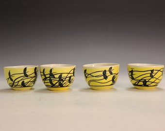 Fine hand made gifts porcelain tea bowls chinese tea bowls shooters, party cups office gifts party gifts party wiskey shooters