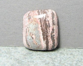 Jasper Cabochon - Pink Jasper - Stone Cabochon - 18.9 by 16.7 mm