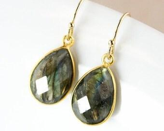 25% OFF Blue Labradorite Teardrop Earrings – 14K Gold Fill