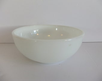Vintage Cereal Bowl - White dish - Ice Cream bowl - Corning - Milk Glass - Replacement - dinnerware - Kitchen - Table