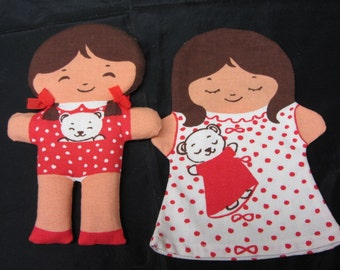 Cloth Paper Dolls From Illums Bolighus, Fabric Dolls, Illum Bolighus Doll, Play Dolls, Collectible Dolls, Dress Up Dolls