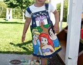 Boutique custom Princess jumper dress 12 18 24 2 3 4 5 6 Jumper set ETSYKIDS