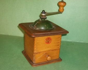 Wooden Dovetailed French Coffee Grinder