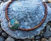Beaded Friendship Bracelet, Stackable, Simple, Delicate Jewelry, Gypsy, Boho, Rustic, Earthy, Bangle, Seed Bead Bracelet