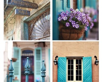 """Collection of Four 8x10"""" or 11x14"""" New Orleans Photographs, 20% Savings, Affordable Home Decor, French Quarter Wall Art, New Orleans Gift"""