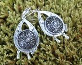 Viking earrings repurposed shield button Norway Sweden Medieval