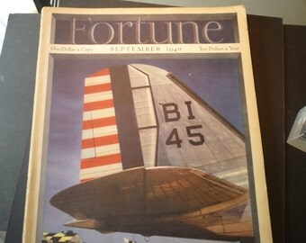 Fortune Magazines- September 1940 - great war time issue - complete copy - very good condition - whole issue - cover by Otto Hagel 160 pages