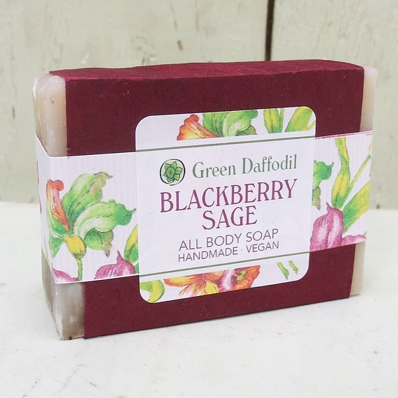 Blackberry Sage Bar of Soap - Green Daffodil