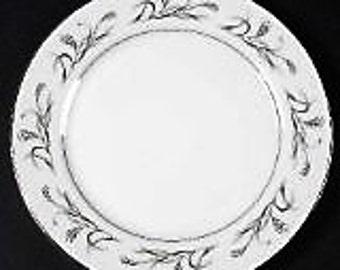 Harmony House Japan  Platinum Garland 4 salad+2 Dessert  plates   wedding  china