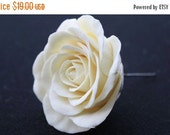 FREE SHIPPING Ivory rose bridal hair flower pin, clip, fascinator, accessory, wedding