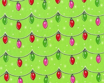 Michael Miller Holiday Fabric TWINKLY LIGHTS (All the Trimmings)- yards