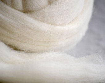 100% Wool Roving (core)- 34 Micron - perfect for rolling inside heads for Waldorf Dolls