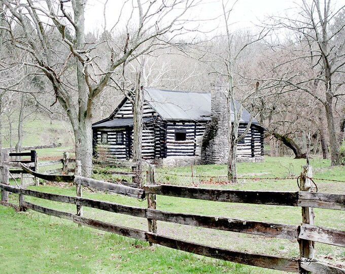 Kentucky Martins Cabin Boonesboro Fine Art Print on Paper or Canvas