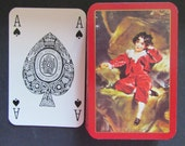 Complete Deck of Vintage Little Boy Waddingtons Playing Cards-Leeds and London