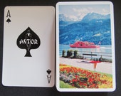 Complete Vintage Deck of Astor Playing Cards-Red Ferry Boat