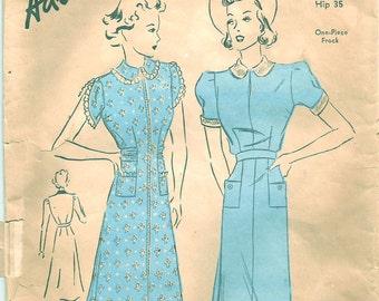 Vintage 30s Dress Pattern 1930s Advance 1965 32 bust S XS
