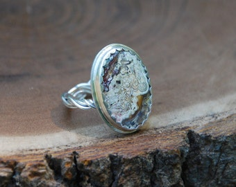 Braided Agate Ring Size 10
