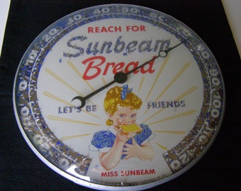 Vintage Outdoor Thermometer Sunbeam Bread 1957