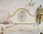 RESERVE JANAE Painted Cottage Pink Romantic French Bed Twin or Full/Double DANBEDBLUE