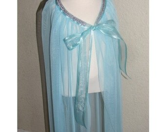 New princess Elsa Frozen Inspired Costume  cape girl toddler 4-8 years